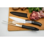 High quality BBQ ceramic kitchen knife and meat fork set