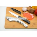BBQ/Roast foods/meats ceramic cutting knife and tongs kitchen tool set