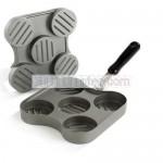 multihole aluminum burger press non-stick coating hamburger press with 2/3/4/5/6/7 holes