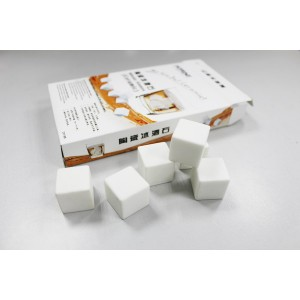 Ceramic whiskey stones 6pcs/set gift box