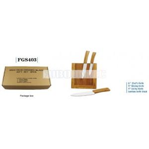 Bamboo handle Ceramic knife gift set