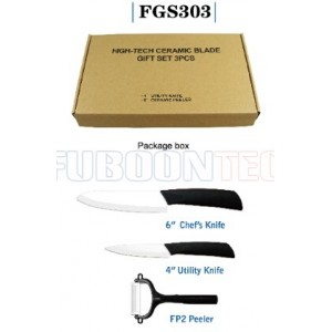 Anti-slip handle Ceramic knife gift set